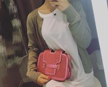 Leather women cross body bag shoulder wallet clutch
