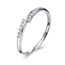 STACKABLE DIAMOND WEDDING CLAW SET BAND  RING IN 18K White GOLD CUSTOMIZE