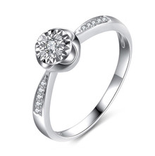 SOLITAIRE ENGAGEMENT RING, PROMISE DIAMOND RING, 18K WHITE GOLD RING, SHOULDER SOLITAIRE DIAMOND RING CUSTOMIZE