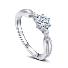 SOLITAIRE ENGAGEMENT DIAMOND RING, PROMISE DIAMOND RING, 18K WHITE GOLD RING, CUSTOMIZE