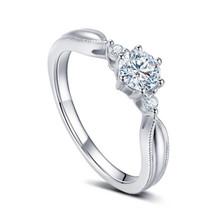 SOLITAIRE ENGAGEMENT DIAMOND RING, PROMISE DIAMOND RING, 18K WHITE GOLD RING, CUSTOMIZE