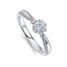 ENGAGEMENT DIAMOND RING 18K GOLD SOLITAIRE DIAMOND RING GIFT FOR HER PROMISE RING CUSTOMIZE