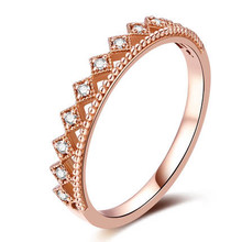 STACKABLE DIAMOND WEDDING CLAW SET BAND CROWN DIAMOND RING IN 18K GOLD CUSTOMIZE