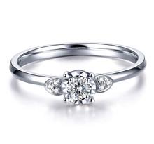 18kt Gold Engagement Diamond Ring, Heart Wedding Ring,