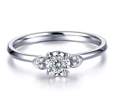18kt Gold Fashion Flower Diamond Ring, Wedding Ring