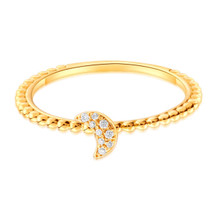 18kt Gold Fashion Moon Wedding Diamond Ring