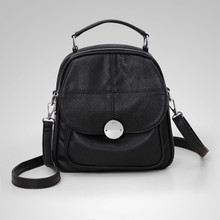 Waterproof Leather women  vintage  crossbody bag backpack