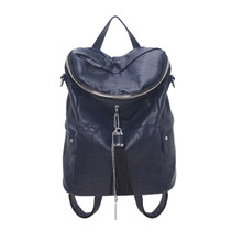 Leather tassel fashion women duffle backpack shoulder crossbody bag