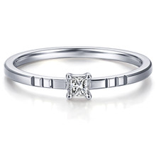 18 kt Gold Engagement Princess Cut Diamond Solitaire Ring, Promise RIng