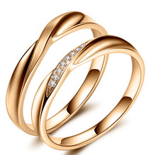 18KT GOLD WEDDING DIAMOND PAIR RING, DIAMOND BAND, LOVERS RING