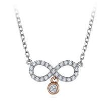 18KT Gold drop diamond pendant necklace custom