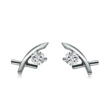 18Kt Gold Diamond Earrings 0.12 CT
