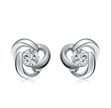 18KT DIAMOND EARRINGS, 0.14 CT BRIDAL UNIQUE STUD DIAMOND EARRINGS,