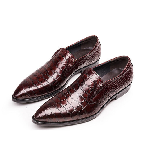 brown slip on s dress shoes handmade slip on