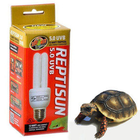 Zoo Med 5.0 UVB Mini Coil Bulb 13 Watt Tropical Tortoises