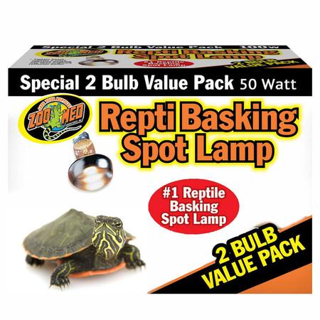 Zoo Med Repti Basking Spot Lamp 2 Pack 50 Watt