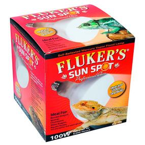 Fluker Sun Spot Mercury Vapor Bulb 100 Watt Both UVA & UVB