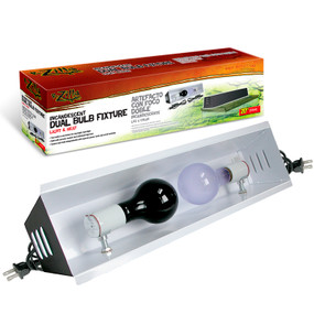 Zilla Incandescent Dual Bulb Fixture For 10 Gallon Tanks