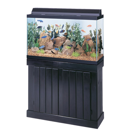 Pine 20 gallon long turtle tank stand black for 38 gallon fish tank