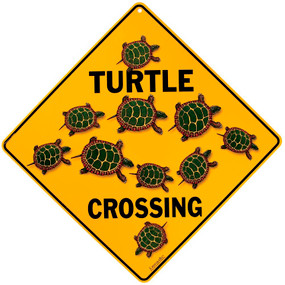 Baby Turtle Crossing Sign