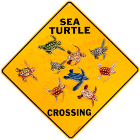 Sea Turtle Crossing Turtle Sign