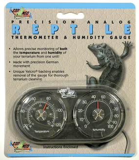 Zoo Med Analog Dual Thermometer & Humidity Gauge