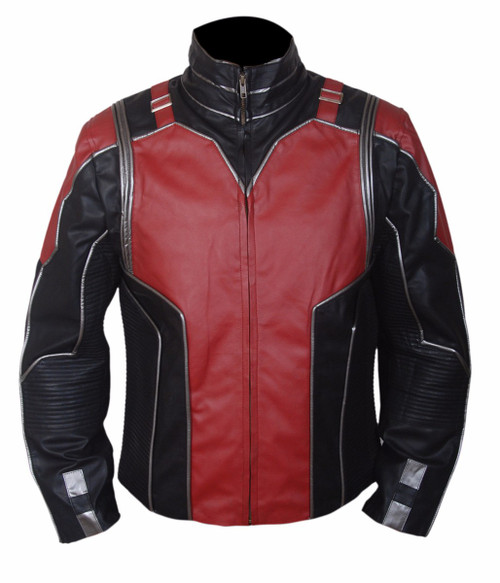 Antman (Paul Rudd) Red and Black Leather Jacket 1