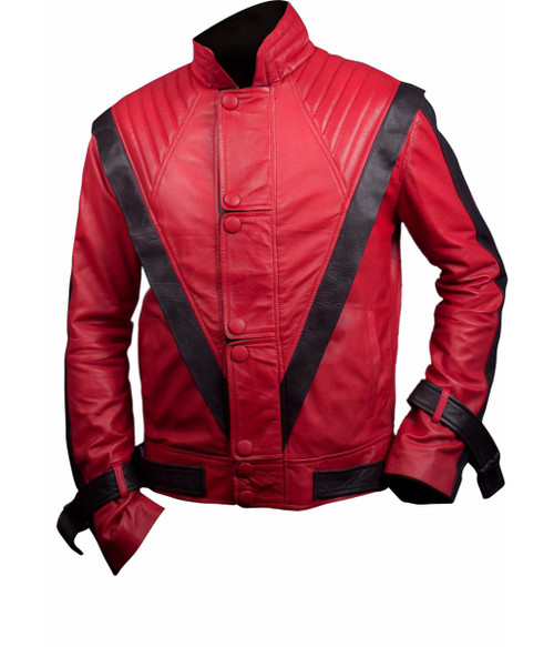 Michael Jackson Thriller Faux Leather Jacket in Red 1