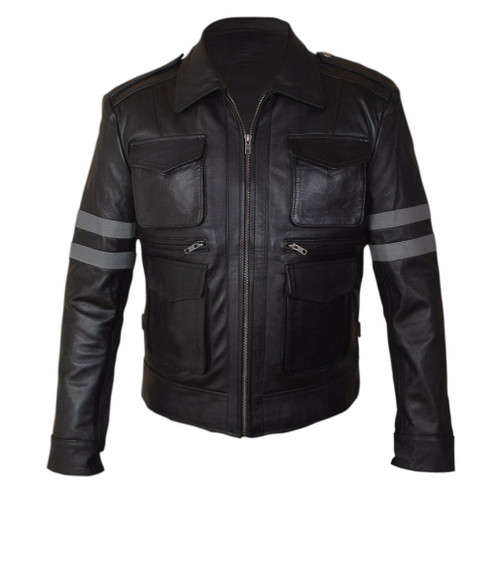 LEON Resident Evil 6 Faux Leather Jacket 1