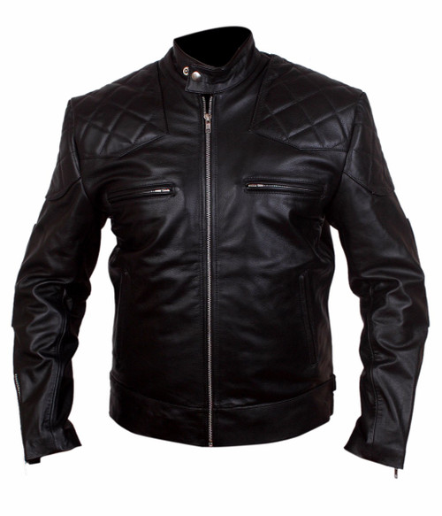 David Beckham Real Leather Black Jacket 1