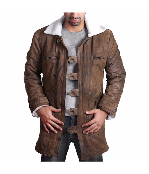 BANE Coat 'Tom Hardy - Dark Knight Rises' Vintage Distressed Look Leather Jacket 1