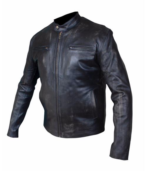 Mark Wahlberg Contraband Black Leather Jacket 1