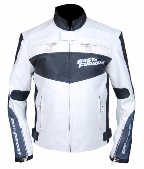 Fast And Furious 7 Vin Diesel Faux (Synthetic) Leather Jacket front