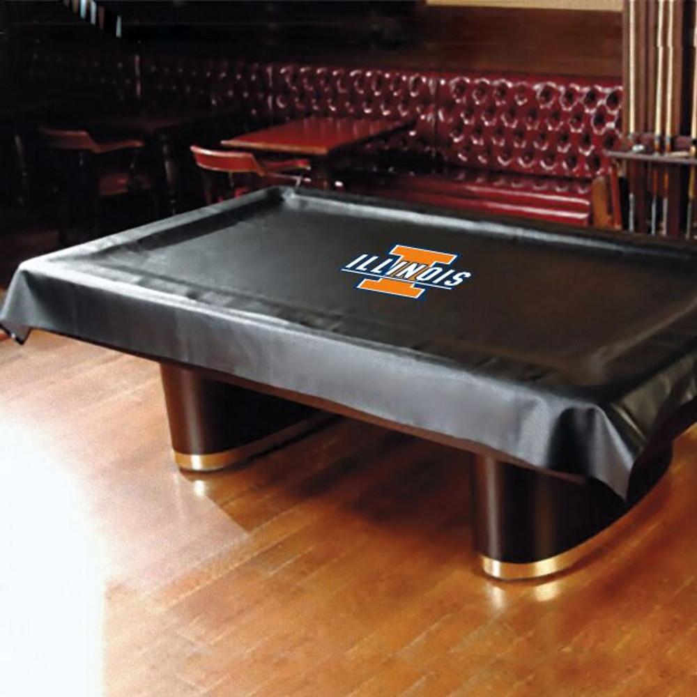 Illinois Fighting Illini Pool Table Cover | Hood Leather | 11500-ILL