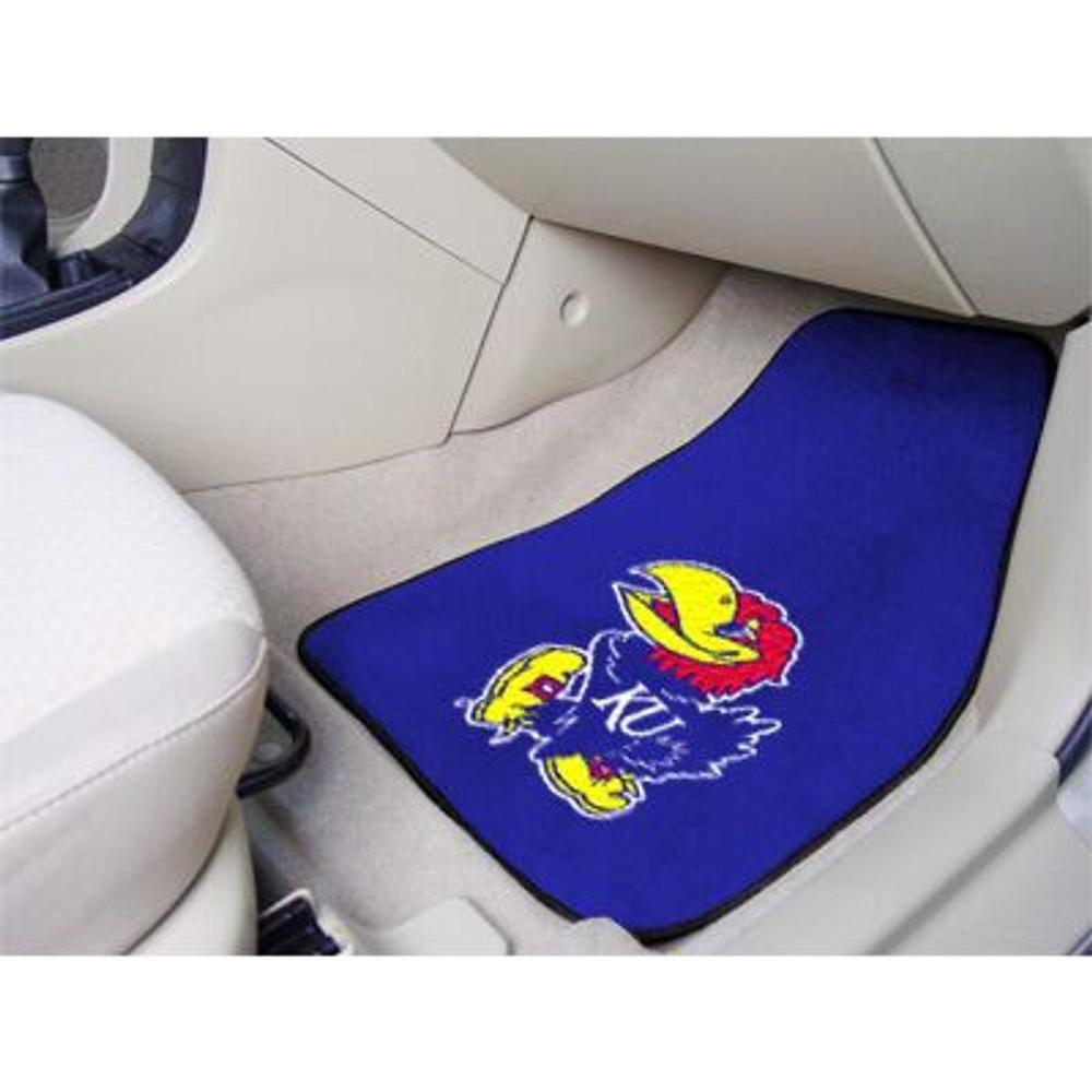 Kansas Jayhawks Carpet Floor Mats