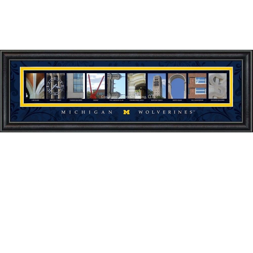 Michigan Wolverines Campus Letter Art | Get Letter Art | CLAL1C22MICH