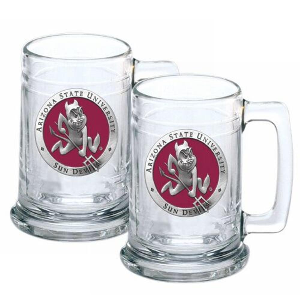 Arizona State Sun Devils Beer Mug Set of Two   Heritage Pewter   ST10127ER