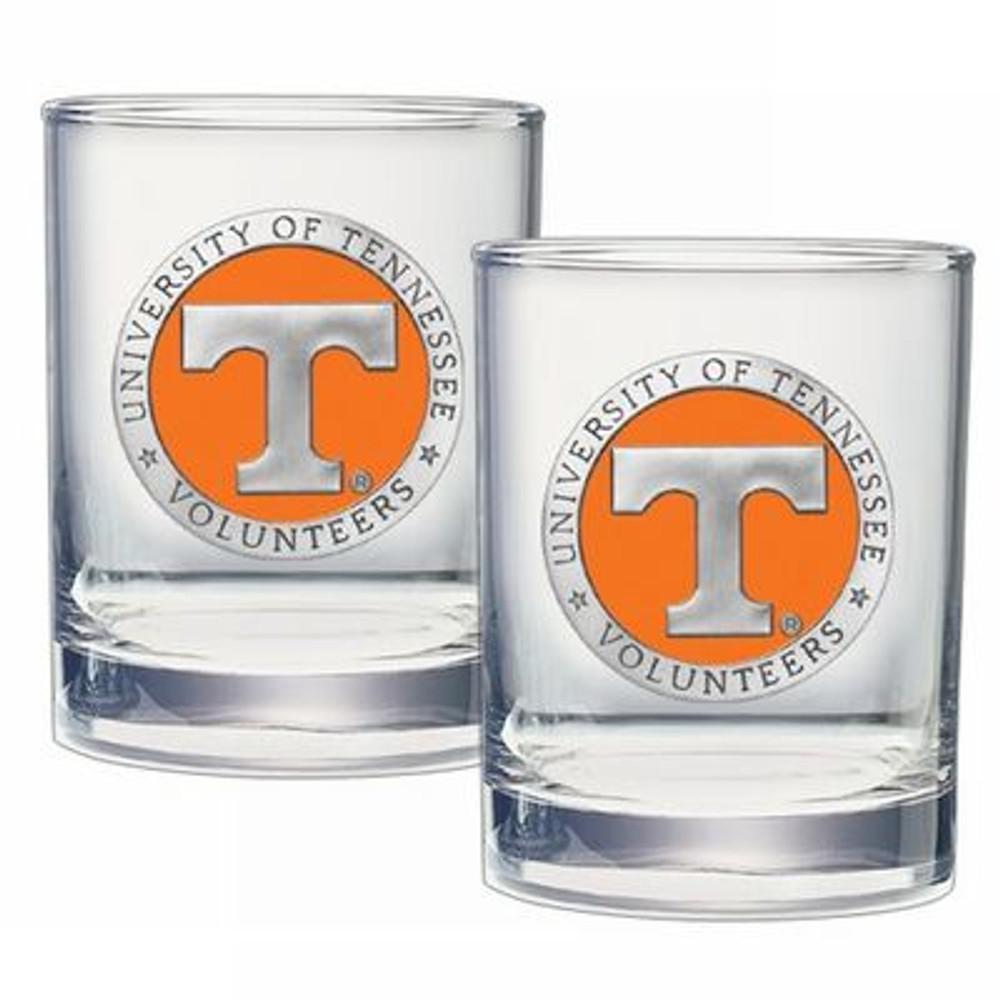 Tennessee Volunteers Cocktail Glasses | Heritage Pewter | DOF10115E