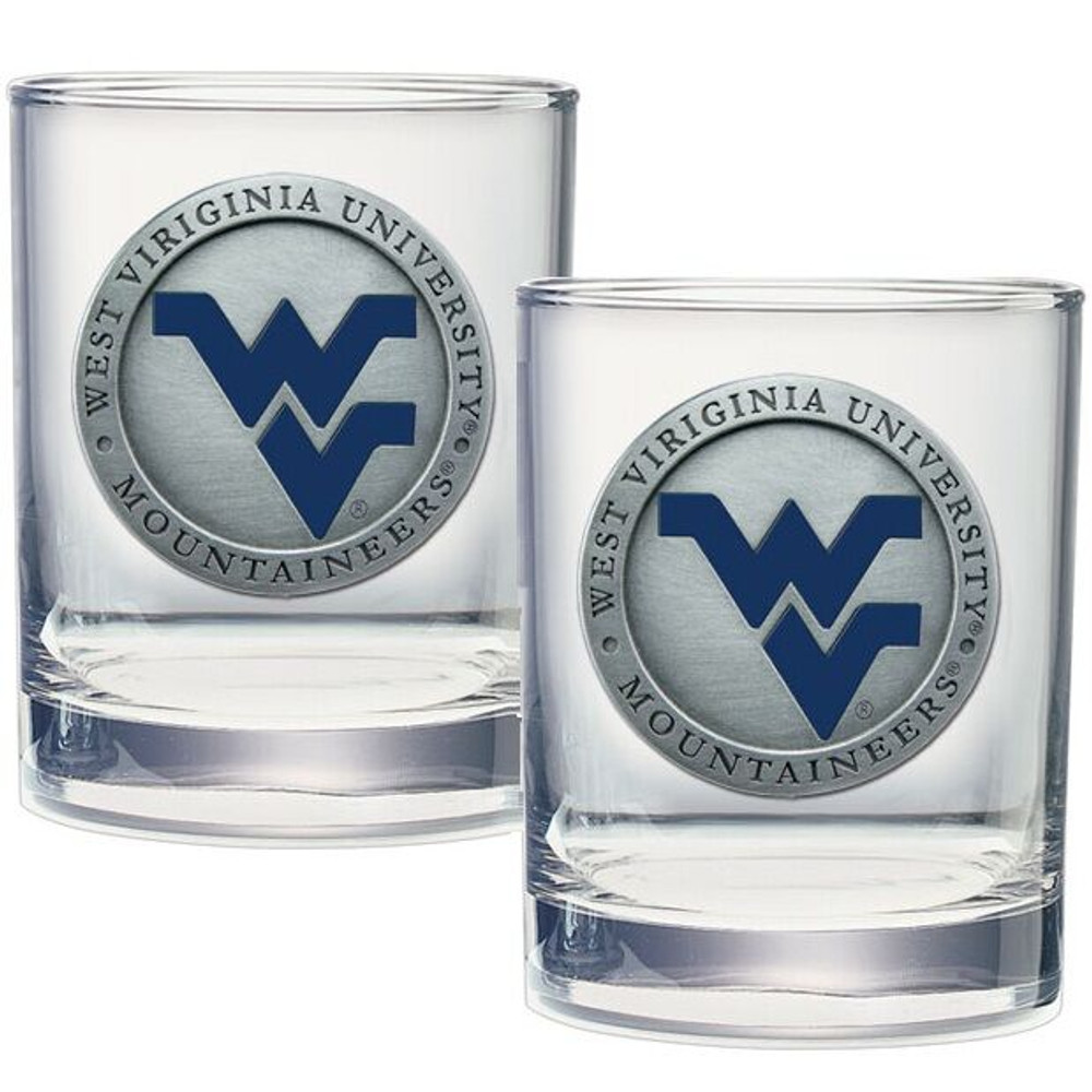 West Virginia Mountaineers Cocktail Glasses | Heritage Pewter | DOF10205EB