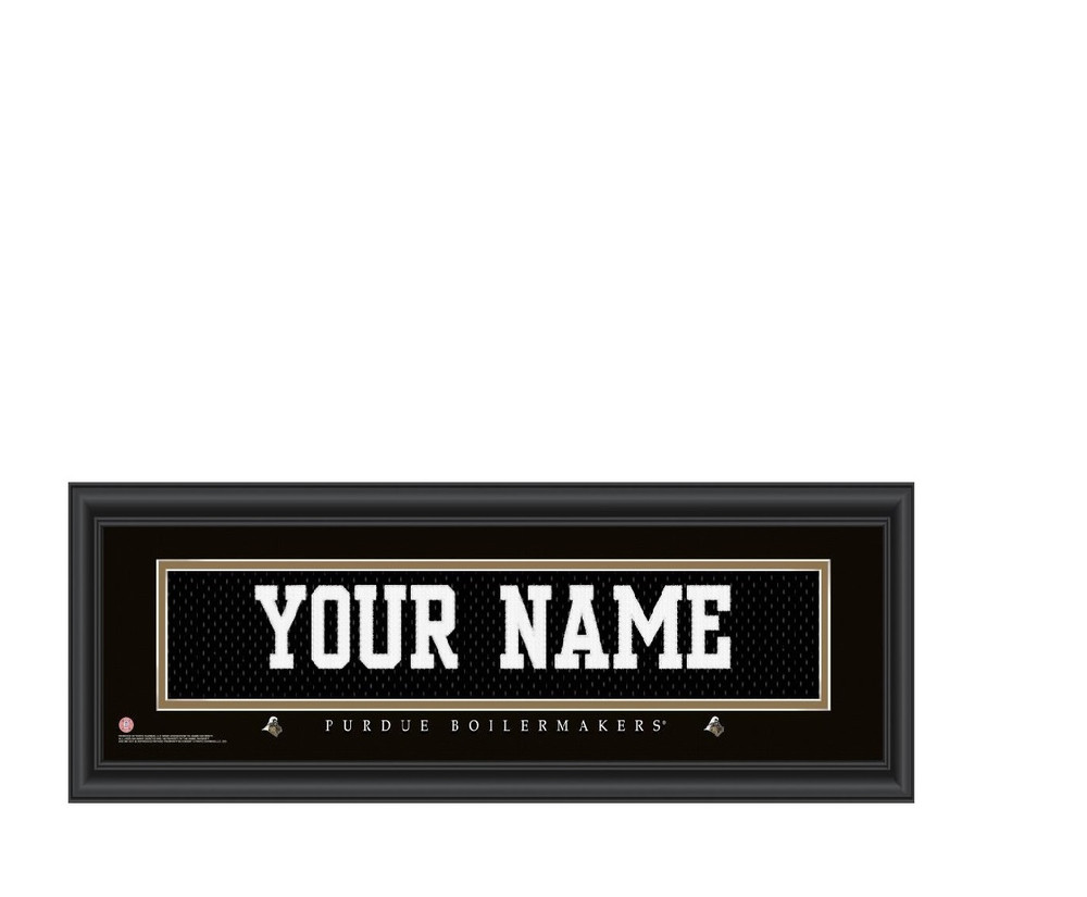 Purdue Boilermakers Personalized Jersey Stitch Print | Get Letter Art | PURDJERS