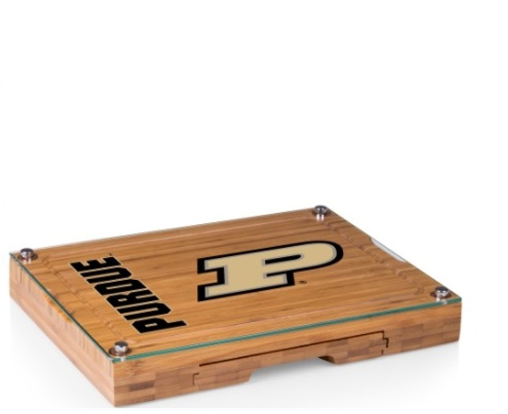Purdue Boilermakers Concerto Bamboo Cutting Board | Picnic Time | 919-00-505-514-0