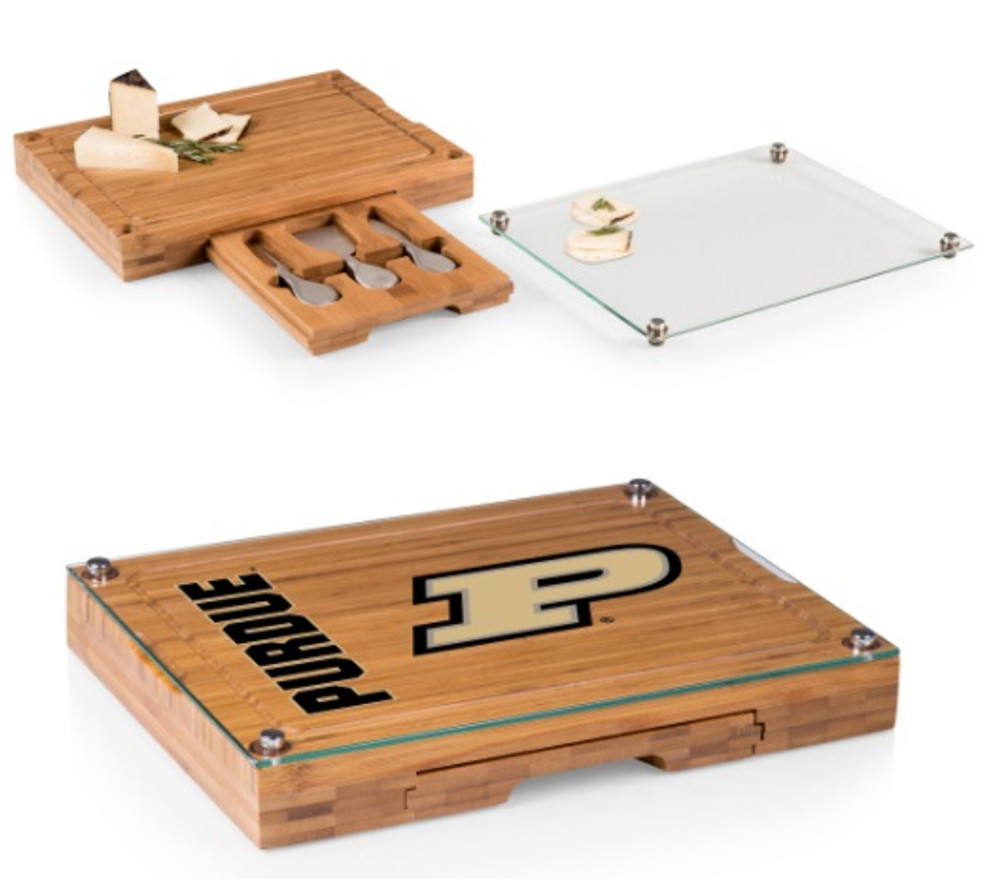 Purdue Boilermakers Concerto Bamboo Cutting Board | Picnic Time | 919-00-505-514-0-2