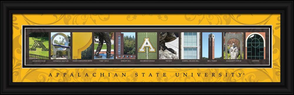 Appalachian State Mountaineers Letter Art | Get Letter Art | CLAL1B22APPL