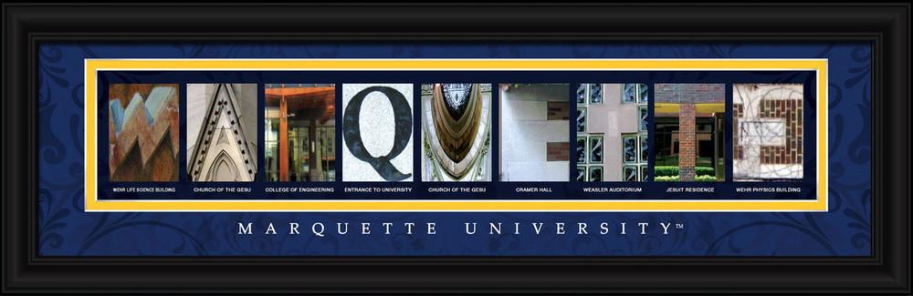 Marquette Golden Eagles Letter Art   Get Letter Art   CLAL1B22MARQ