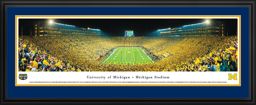 Michigan Wolverines Panoramic Photo Deluxe Matted Frame - End Zone | Blakeway | UMI4D