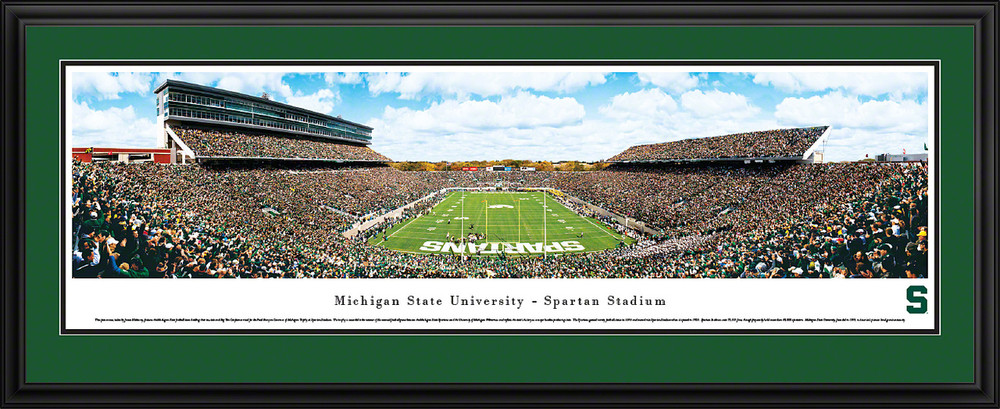 Michigan State Spartans Panoramic Photo Deluxe Matted Frame - End Zone | Blakeway | MSU3D