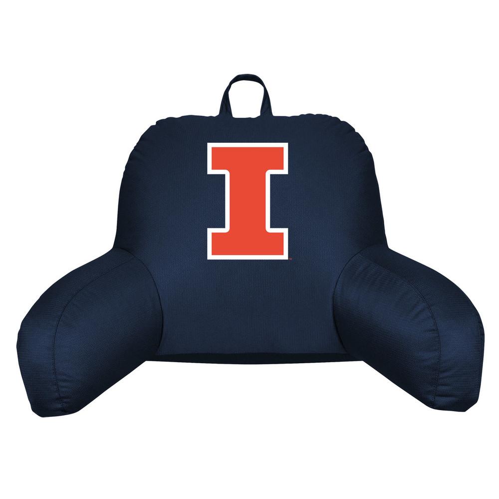 Illinois Fighting Illini Bedrest Pillow   Sports Coverage   04JRBDR4ILU1912