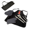 Illinois Fighting Illini BBQ Apron Tote Set | Picnic Time | 635-88-179-214-0
