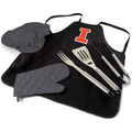 Illinois Fighting Illini BBQ Apron Tote Set
