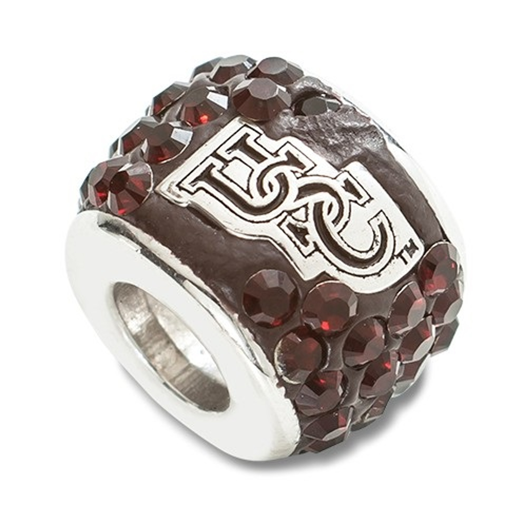Beads Company Logo: South Carolina Gamecocks Logo Sterling Silver Bracelet